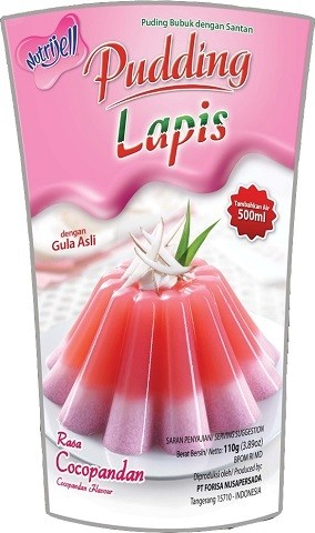 Pudding Lapis rasa Cocopandan 110gr