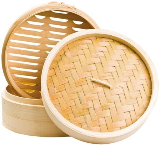 Bamboo Steamer 3 pcs (20 cm) 1set