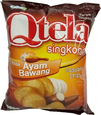 Qtela Singkong Rasa Ayam Bawang 185gr