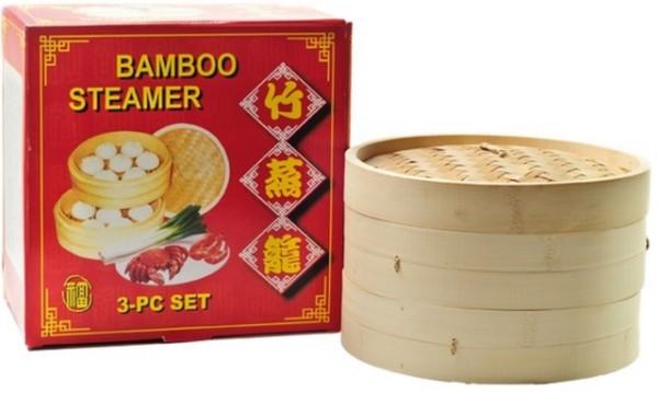 Bamboo Steamer 3 pcs (25 cm) 1set