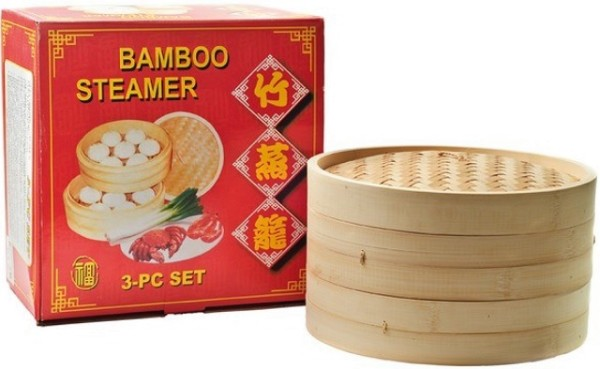 Bamboo Steamer 3 pcs (30 cm) 1set