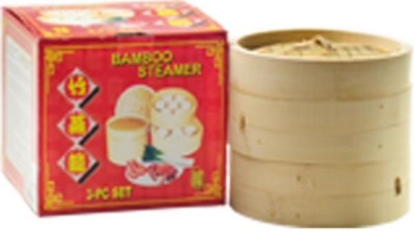 Bamboo Steamer 3 pcs (15 cm) 1set