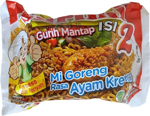 Mi Goreng Rasa Ayam Kremess isi 2 125gr