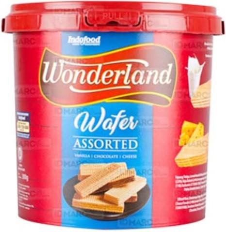 Wafer assorted Vanila/Coklat/Keju 300gr