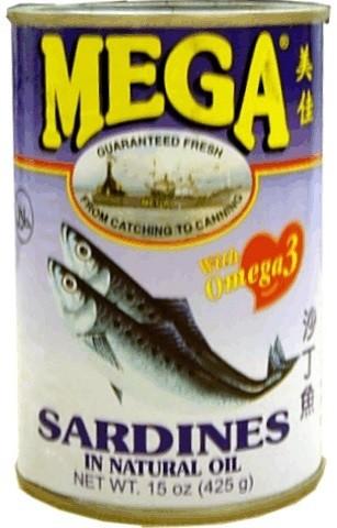 Sardines in öl 425gr