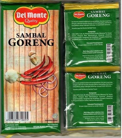 Sambal Goreng (6 sachet a 23gr) 138gr