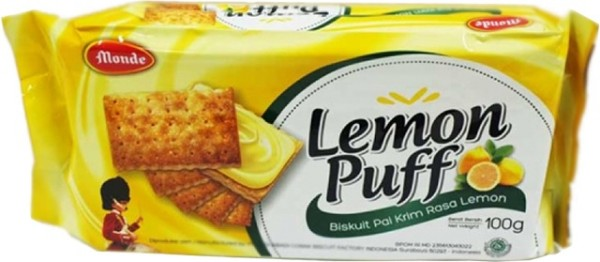 Biskuit Pai krim rasa Lemon 100gr
