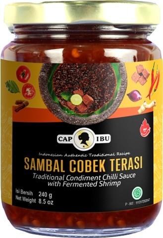 Sambal Cobek Terasi hot 240gr