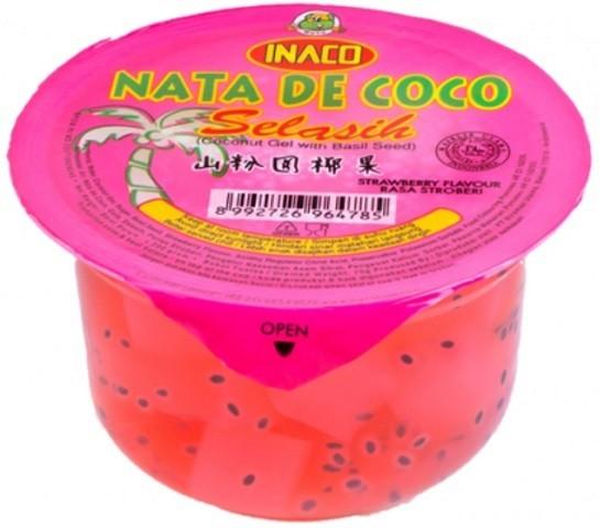 Nata de Coco Stoberi dengan Selasih 200gr