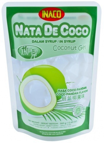 Nata de Coco rasa Coco Pandan 360gr
