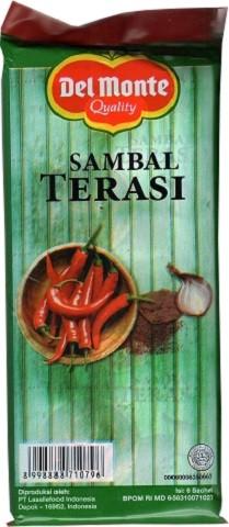 Sambal Terasi (6 sachet a 23gr) 138gr