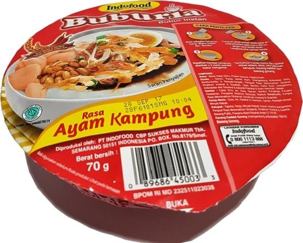 Bubur instan rasa Ayam Kampung bowl 70gr